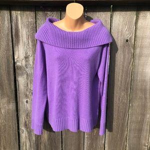 Jones New York Signature Cashmere Sweater Violet